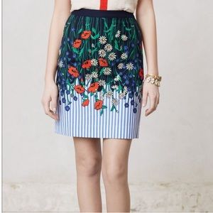 Postmark Vertical Gardens Skirt Anthro- Size 10